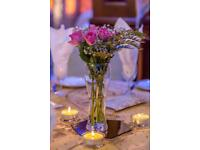 EVENT TABLE DECORATION - Vases, Mirror Plates & Candles for Hire