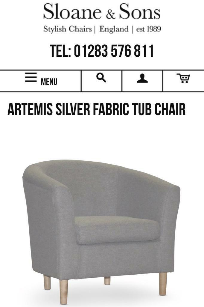 Sloane And Sons Grey Tub Chair