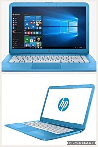 Ordinateur Portable HP Stream couleur bleu Aqua