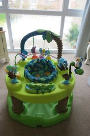 EVENFLO EXERSAUCER TRIPLE FUN ACTIVE LEANING CENTRE JUNGLE THEME