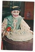 Vintage Clown Postcard