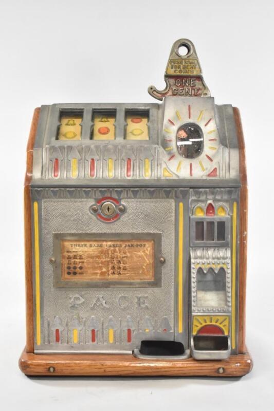 Antique Bantam Reserve 1 Cent Slot Machine Pace MFG Co. #C33534 Circa 1930