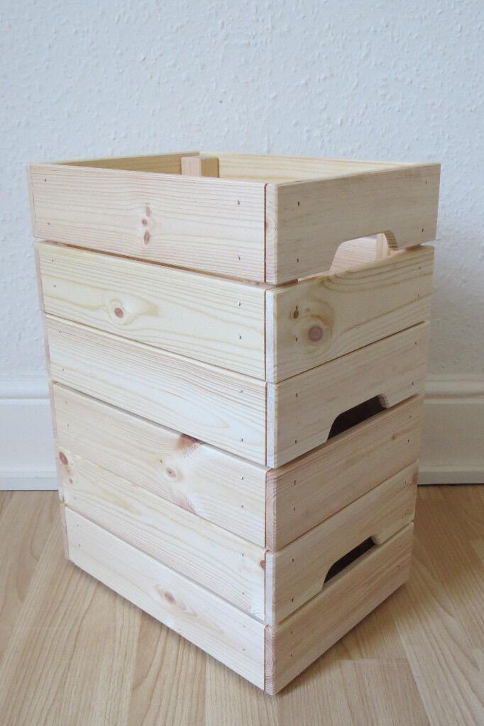 Wooden Storage Crate Ikea Storage Ideas