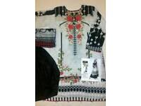 Pakistani Designer Full Stitched Embroidered Lawn Suits Shalwar Kameez size L, XL , XXL UK Seller