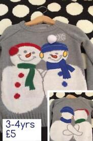 Unisex Christmas jumper 3-4y