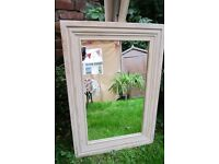 Shabby Chic Solid Wood Mirror.