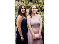 Watters bridesmaids dress/ prom gown - size 12 - midnight blue