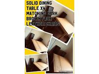 Dining table x4 matching chairs