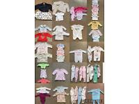 95 Items Of Baby Girls first size tiny baby and newborn items