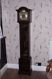 Solid Oak Junghans Granddaughter Clock, Excellent Condition And Working Order.....