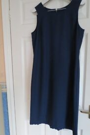 Lady's formal size 12 navy dress and jacket suit