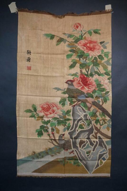 Fine Chinese Kesi Panel Depicting Bird Of Paradise, Early 20th Century.