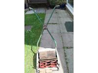 """Ransomes 12 """" Ajax Mk 4 push lawnmower"""