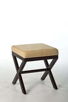 Morgan Wood Vanity Stool, Vanity Stool, Traditional, Upholst