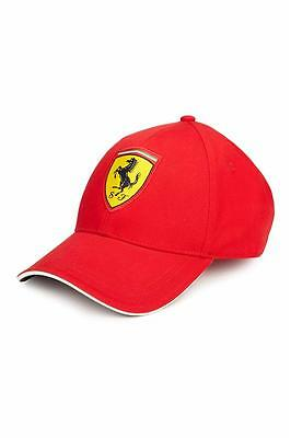 Ferrari Red Classic Adjustable Hat with Embroidered Scudetto Badge