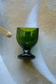 Antique/ vintage collectable eye wash glass in green