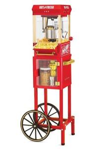 "Popcorn Cart Electrics Machine Popper Maker Vintage Red Stand 48"" Kitchen Home - BRAND NEW - FREE SHIPPING"
