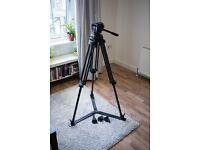 Manfrotto 525MVB Tripod Kit + 503 HDV Head + 565 Rubber Spiked Feet + Spreader