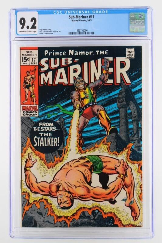 Sub-Mariner #17 -NEAR MINT- CGC 9.2 NM- MARVEL 1969