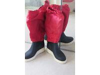 Le Chameau - Lined Sailing Boots Size 39