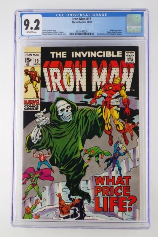 Iron Man #19 -NEAR MINT- CGC 9.2 NM- Marvel 1969 - Midas & Captain America App!