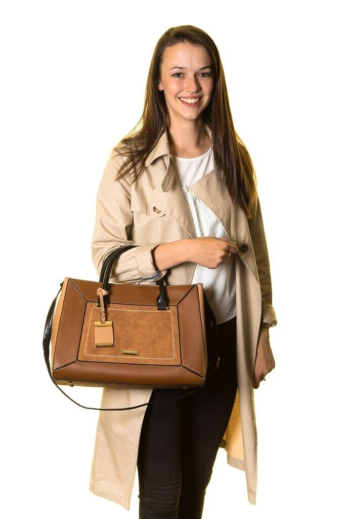 4b026e1403cd Ladies Fashion Designer PU Leather Handbag Tote Shoulder Gray Bag Women