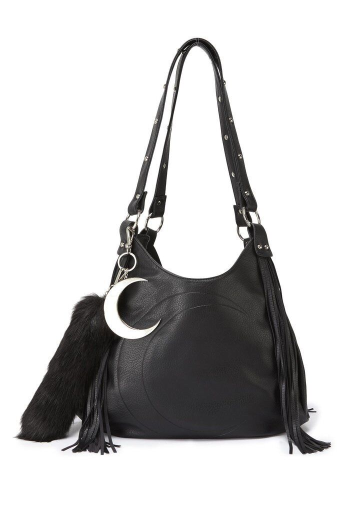 Killstar Janis Fringe Handbag NEW Crescent Moon Goth Witch P