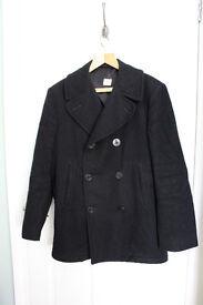 US Navy P Coat 100% wool Size 38R