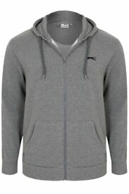 BRAND NEW!! 2 piece Men's Slazenger Full Zipped Grey Hoodie & Joggers . Labels still attached.