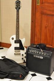 Epiphone Les Paul Studio Guitar and Line 6 Amp