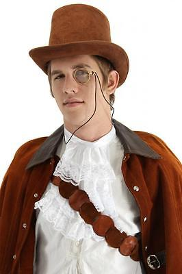 Brown Derby Top Hat 1800s Steampunk Victorian Costume Jack the Ripper Sherlock