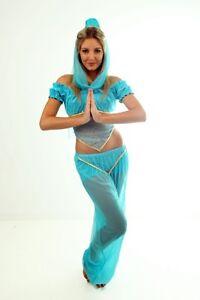 GENIE BELLY DANCER WOMENS LADIES GIRLS COSTUME SMALL 8-10
