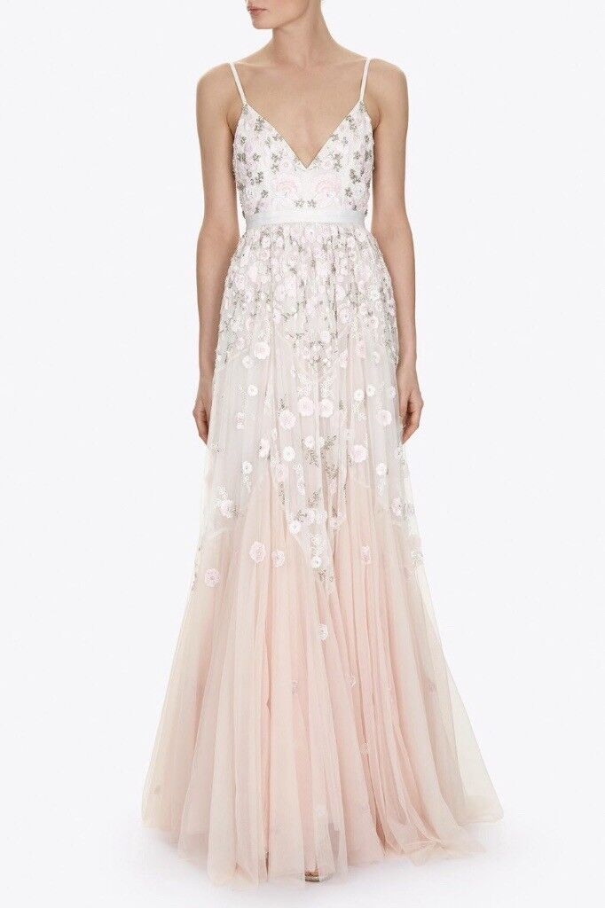 bb31ff8238b7 Needle   Thread Wedding Dress - Blush Embroidered Trailing Tiered Gown