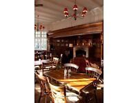 Part and Full time wait staff required for a New Gastro Pub concept in Southfields