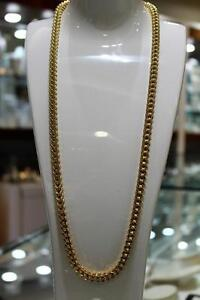 10k Yellow Gold Franco Link Chain 30 inches 7 mm 70 grams