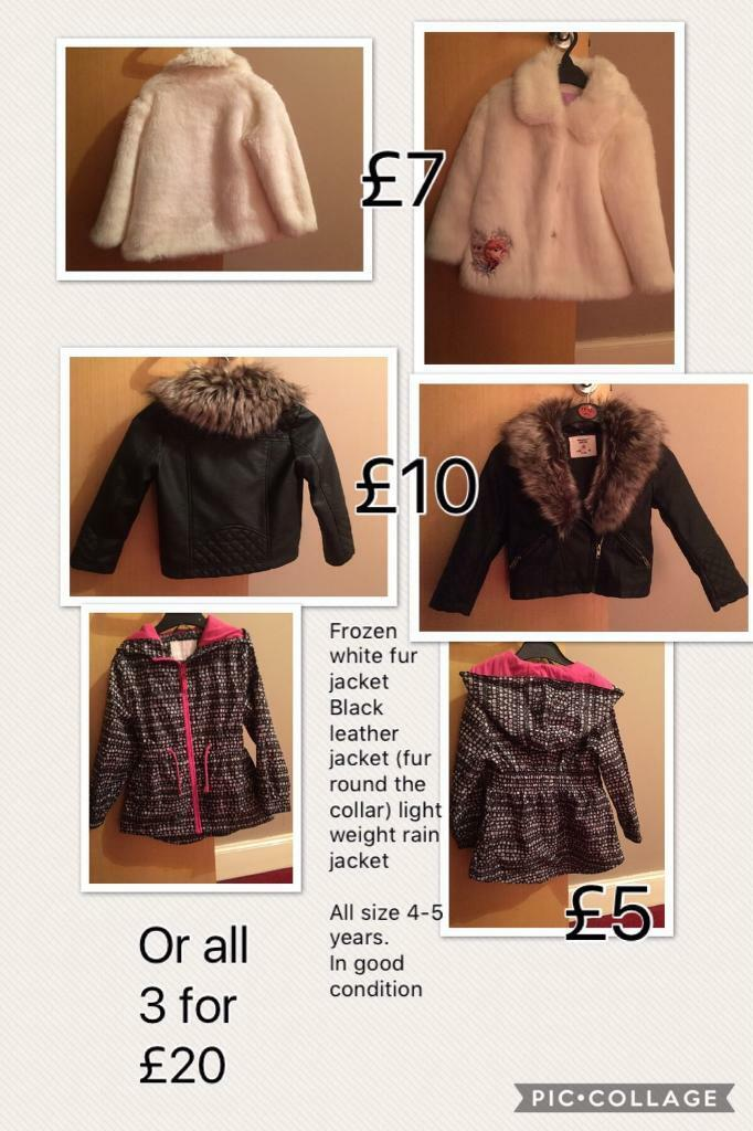 Girls jackets (4-5years)