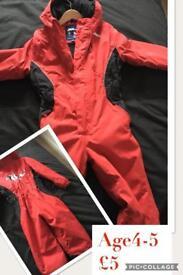 No Fear 4-5y snowsuit