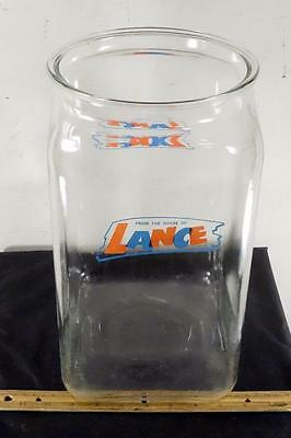 RARE Large Vintage Lance Cracker Glass Store Display Jar Canister