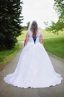 Davids's Bridal Tulle Style Ball Gown White 9WG3403 [Size 16W]