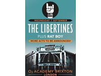 **FACE VALUE** 4x The Libertines standing tickets, Wednesday 7th September, Brixton Academy London