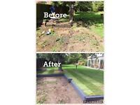 Decking, Fencing, Astro turf, patio, meadow turf