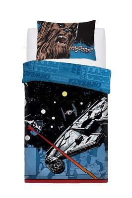 Star Wars Reversible 'Comic Pop' Duvet Quilt Cover Bed Set - Single OR Double