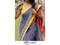 Bollywood Indian Party Wear Beige Pink Saree Sari Bridal Wedding Pakistani Sai-10