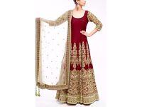 Indian Bollywood Ethnic Designer Anarkali Salwar Kameez Suit &Traditional BCV004
