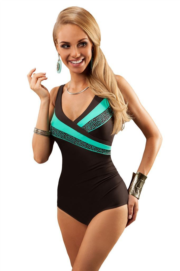 New Women Swimming Costume One Piece Swimsuit Swimwear Uk Size 10 12