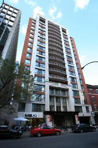 Furnished 1br, exclusive high-end building, Downtown Montreal