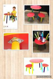 Kids pencil table and 2 stools x 5sets
