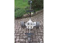 TWO electric golf trolleys for sale, individually or together