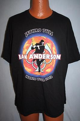 IAN ANDERSON 2012 Jethro Tull Thick As A Brick Concert Tour T-SHIRT 2XL XXL