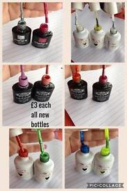 New gel polishes £3 each can post